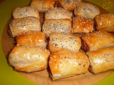 Saladitos de hojaldre de patés variados