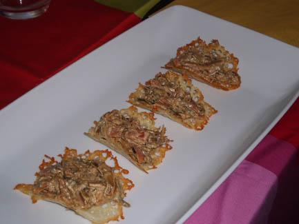 Burritos de queso rellenos de verduras